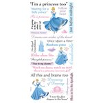 Sandylion - Disney - Cinderella Phrase Scrapbook Stickers, CLEARANCE