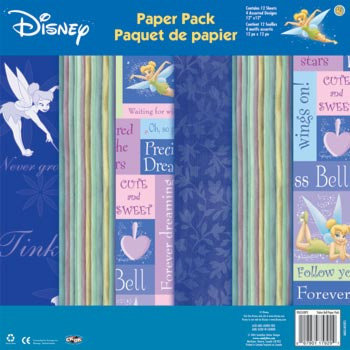 Sandylion - Disney Fairies Collection - 12x12 Paper Pack - Tinker Bell, CLEARANCE