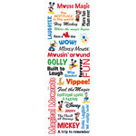 Sandylion - Disney - Mickey Collection - Rub Ons - Phrases, CLEARANCE