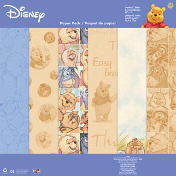 Sandylion - Disney Pooh Collection - 12x12 Paper Pack - Pooh Watercolor