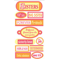 Sandylion - Essentials - 3 Dimensional Stickers - Sisters, CLEARANCE