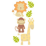 Sandylion - Essentials - Handmade 3 Dimensional Stickers - Jungle Animals