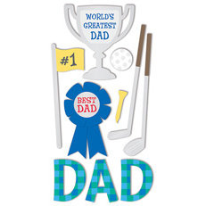 Sandylion - Large Essentials - Handmade Stickers - Dad, CLEARANCE