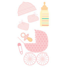 Sandylion - Essentials - Handmade 3 Dimensional Stickers - Baby Girl