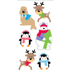 Sandylion - Essentials - Christmas - 3 Dimensional Stickers - Santa's Buddies