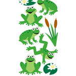 Sandylion - Large Essentials - Handmade 3 Dimensional Stickers - Frogs, CLEARANCE