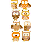 Sandylion - Large Essentials - Handmade 3 Dimensional Stickers - Owls