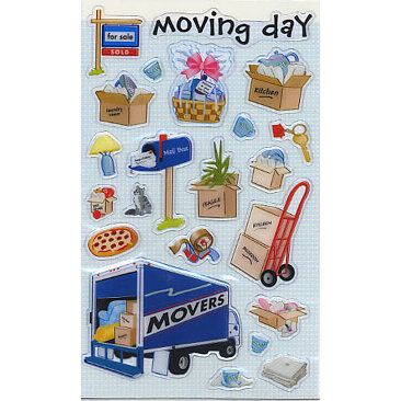 Sandylion - Epoxy Stickers - Moving Day