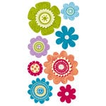 Sandylion - Essentials - Kelly Panacci Collection - Hand Made Stickers - 360 Degrees Flowers, CLEARANCE