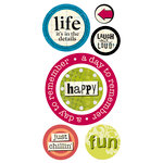 Sandylion - Essentials - Kelly Panacci Collection - Hand Made Stickers - 360 Degrees Words