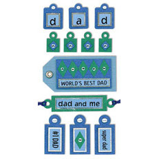 Sandylion - Large Essentials - Handmade Stickers - Tags Dad