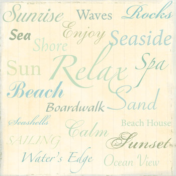 Sandylion - At The Coast Collection - 12x12 Paper - Seaside - Ocean - Swim - Beach, CLEARANCE