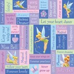 Sandylion - Disney - Tinkerbell Phrase Paper - 12x12, CLEARANCE