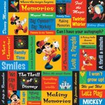 Sandylion - Disney - Mickey Phrase Paper - 12x12, CLEARANCE