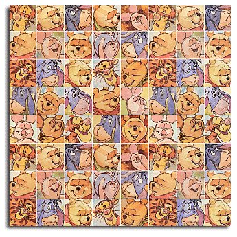 Sandylion Patterned Paper - Pooh Colorful Squares, CLEARANCE