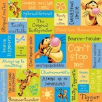 Sandylion - Disney - Tigger Phrase Paper - 12x12, CLEARANCE