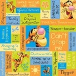Sandylion - Disney - Tigger Phrase Paper - 12x12, CLEARANCE