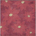 Sandylion - Kelly Panacci Collection - Christmas - 12x12 Paper - Poinsettias