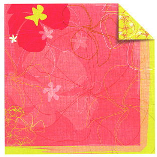Sandylion - Rouge de Garance - Fleur de Taire Collection - 12x12 Doublesided Paper - Beach Bum, CLEARANCE