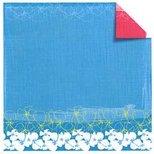 Sandylion - Rouge de Garance - Fleur de Taire Collection - 12x12 Doublesided Paper - Surf's Up, CLEARANCE
