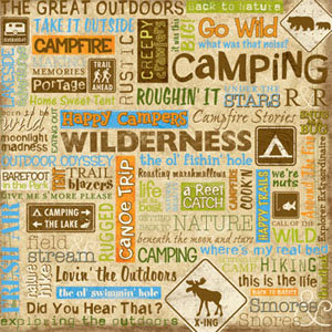 Sandylion - 12x12 Paper - Camping Phrase