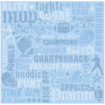 Sandylion - Sports Collection - 12x12 Paper - Football Words
