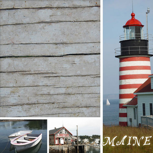 Scrapbook Customs - United States Collection - Maine - 12 x 12 Paper