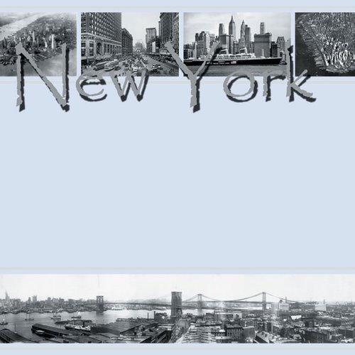 Scrapbook Customs - United States Collection - New York - 12 x 12 Paper - Old New York