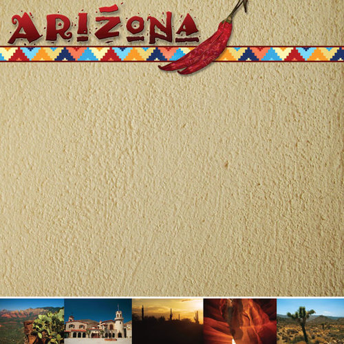 Scrapbook Customs - United States Collection - Arizona - 12 x 12 Paper