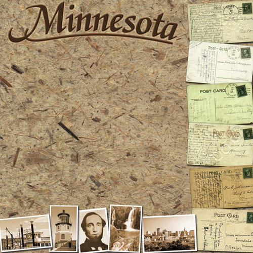 Scrapbook Customs - United States Collection - Minnesota - 12 x 12 Paper