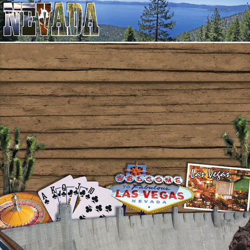 Scrapbook Customs - United States Collection - Nevada - 12 x 12 Paper