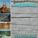 Scrapbook Customs - United States Collection - Delaware - 12 x 12 Paper
