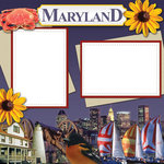 Scrapbook Customs - United States Collection - Maryland - 12 x 12 Paper