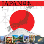 Scrapbook Customs - World Collection - Japan - 12 x 12 Paper