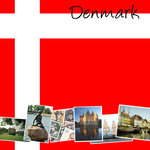Scrapbook Customs - World Collection - Denmark - 12 x 12 Paper