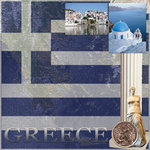 Scrapbook Customs - World Collection - Greece - 12 x 12 Paper
