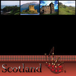 Scrapbook Customs - World Collection - Scotland - 12 x 12 Paper