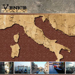 Scrapbook Customs - World Collection - Italy - 12 x 12 Paper - Venice