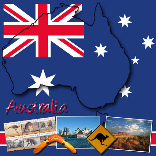 Scrapbook Customs - World Collection - Australia - 12 x 12 Paper