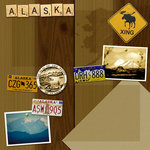 Scrapbook Customs - United States Collection - Alaska - 12 x 12 Paper - Brown