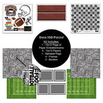 Scrapbook Customs - Sports Collection - 12 x 12 Paper Kit - Football