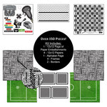 Scrapbook Customs - Sports Collection - 12 x 12 Paper Kit - Lacrosse