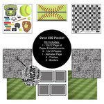 Scrapbook Customs - Sports Collection - 12 x 12 Paper Kit - Softball