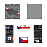 Scrapbook Customs - Scratchy Kit - Czech Republic