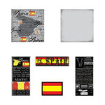 Scrapbook Customs - Scratchy Kit - Spain