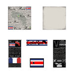 Scrapbook Customs - Scratchy Kit - Costa Rica