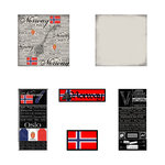 Scrapbook Customs - Scratchy Kit - Norway