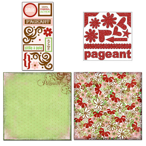 Scrapbook Customs - Sports Collection - 12 x 12 Page Kit - Pageant