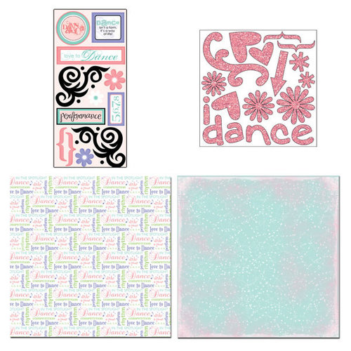 Scrapbook Customs - Sports Collection - 12 x 12 Page Kit - Dance