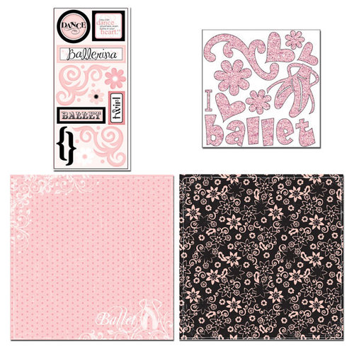 Scrapbook Customs - Sports Collection - 12 x 12 Page Kit - Ballet